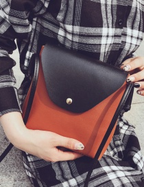 Fashion Brown Color-matching Decorated Bag