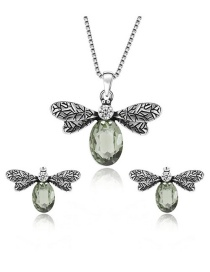 Fashion Silver Color Dragonfly Shape Decorated Jewelry Sets