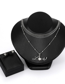 Fashion Silver Color Letter Pattern Decorated Jewelry Sets