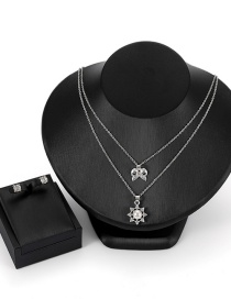 Fashion Silver Color Bowknot Shape Decorated Jewelry Sets