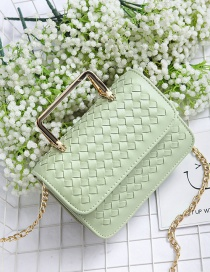 Fashion Green Grid Pattern Decorated Bag