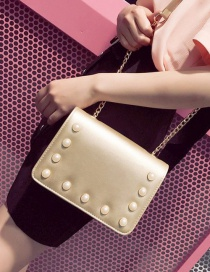 Fashion Gold Color Pearl Decorated Bag