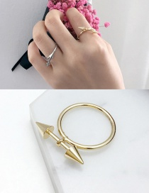 Fashion Gold Color Arrow Shape Decorated Ring