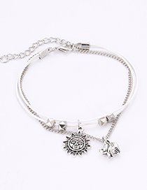 Fashion Silver Color Sun Shape Decorated Bracelet