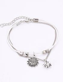 Fashion Silver Color Sun Shape Decorated Bracelet
