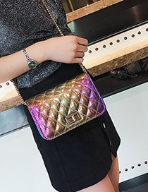 Fashion Multi-color Pure Color Decorated Shoulder Bag