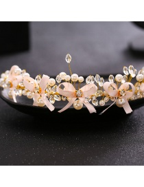 Fashion Pink Bowknot Shape Decorated Hair Accessories