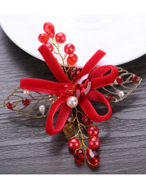 Fashion Red Leaf Shape Decorated Hair Accessories