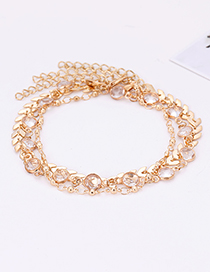 Fashion Gold Color Pure Color Decorated Multi-layer Anklet