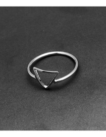 Fashion Silver Color Triangle Shape Decorated Ring