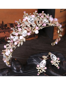 Fashion Pink Crown Shape Decorated Hair Accessories