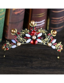Fashion Antique Gold Leaf Decorated Hollow Out Hair Accessories
