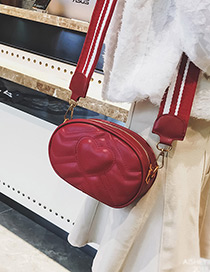 Lovely Red Pure Color Decorated Shoulder Bag