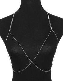 Fashion Silver Color Pure Color Decorated Body Chain