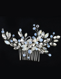 Fashion Light Blue Full Diamond Decorated Hair Accessories