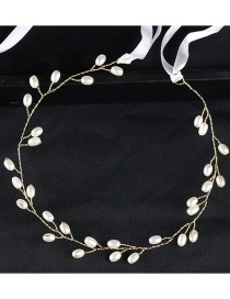 Fashion Gold Color Pearl Decorated Hair Accessories