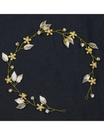 Fashion Gold Color Leaf&flower Shape Decorated Hair Accessories
