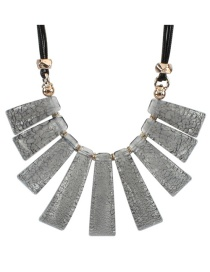 Fashion Gray Irregular Shape Decorated Necklace