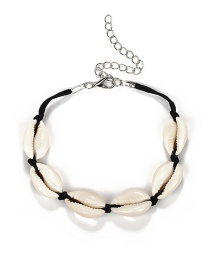 Fashion Black Shell Shape Decorated Bracelet