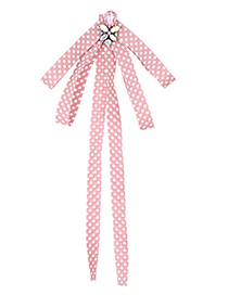 Fashion Pink Spot Pattern Decorated Bowknot Brooch