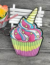 Fashion Multi-color Cake Shape Decorated Wallet