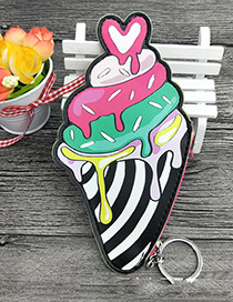 Fashion Multi-color Ice Cream Shape Decorated Wallet