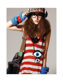 Fashion Multi-color Cartoon Eyes Decorated Long Necklace