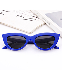 Fashion Blue Pure Color Decorated Glasses