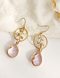 Fashion Pink Geometric Shape Decorated Earrings