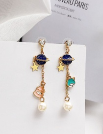 Fashion Multi-color Star Shape Decorated Tassel Earrings