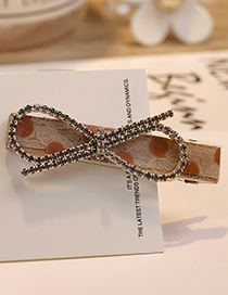 Fashion Coffee Bowknot Shape Decorated Hair Clip