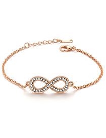 Fashion Gold Color Symbol 8 Shape Decorated Bracelet