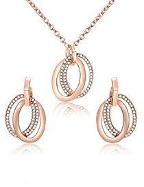 Fashion Gold Color Circular Rings Decorated Jewelry Sets