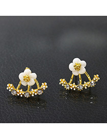 Fashion Gold Color Daisies Shape Decorated Earrings
