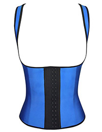 Fashion Blue+black Color-matching Decorated Corset