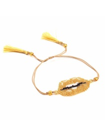 Fashion Gold Color Tassel Decorated Beads Bracelet