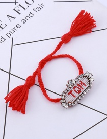 Fashion Red Letter Pattern Decorated Bracelet