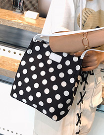 Fashion Black Dots Pattern Decorated Bag