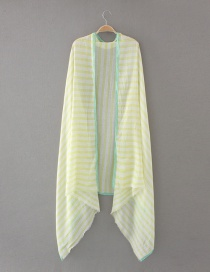 Fashion Yellow Stripe Pattern Decorated Scarf