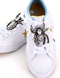 Fashion Black Spider Shape Decorated Shoe Accessories(2pcs)