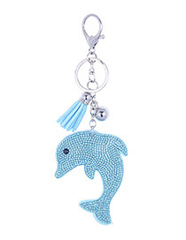 Fashion Blue Dolphin Shape Decorated Pendant