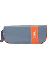 Fashion Orange+gray Color-matching Decorated Storage Bag(7pcs)