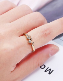 Fashion Gold Color Diamond Decorated Ring