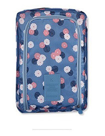 Fashion Blue Flower Pattern Decorated Storage Bag