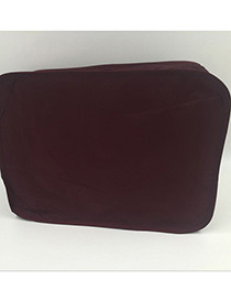 Fashion Claret Red Pure Color Decorated Storage Bag(6pcs)
