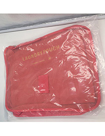 Fashion Red Pure Color Decorated Storage Bag(6pcs)