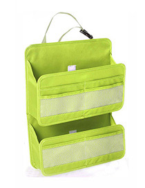 Fashion Green Pure Color Decorated Storage Bag