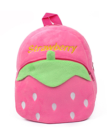 Fashion Pink Strawberry Shape Decorated Bag