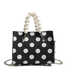 Fashion Black Spot Pattern Decorated Shouder Bag