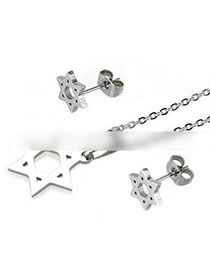 Fashion Silver Color Star Shape Decorated Jewelry Set